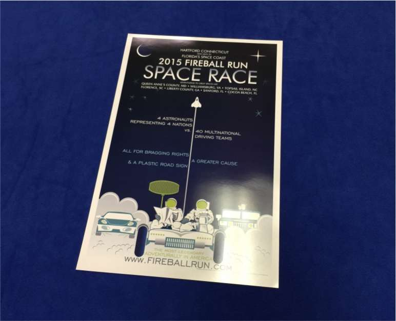 Space Race Poster $5.00